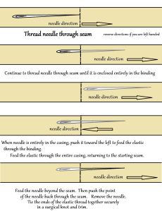 inserting elastic thread through a casing2