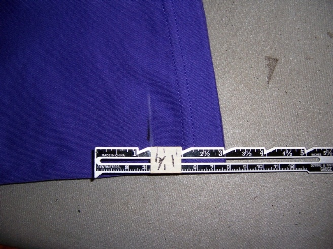 measuring hem with marked ruler2