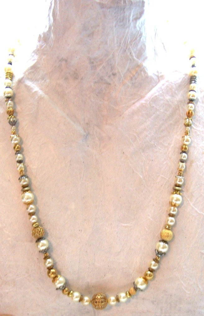 ivory pearls gold gift wife teacher parent