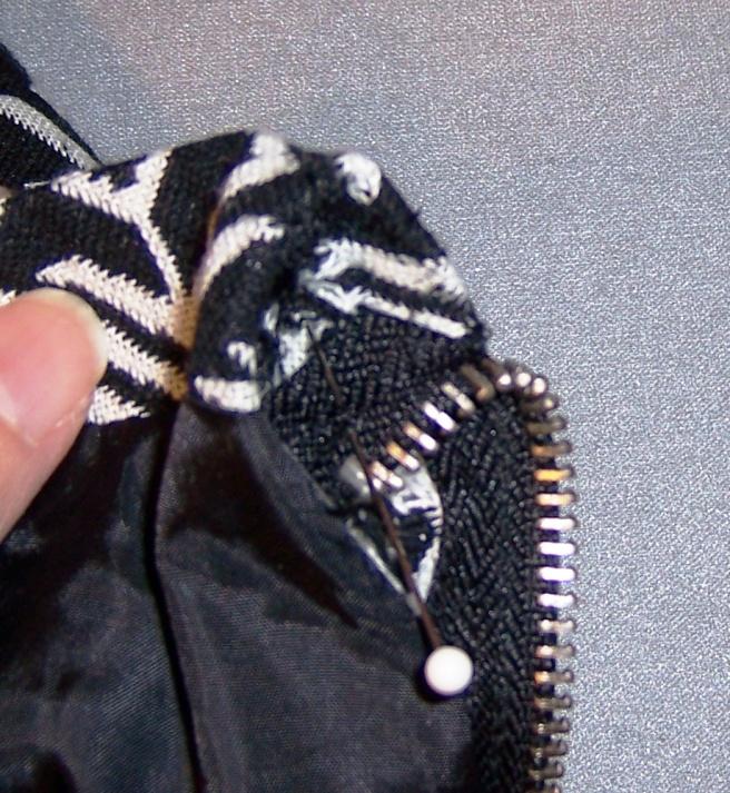 zippered hem sleeve how to alter