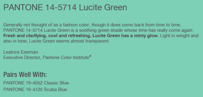 lucite green