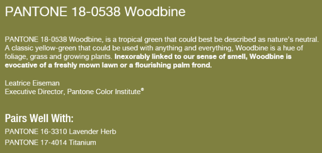 woodbine spring 2015 pantone color sew and so s notions