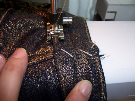 Topstitch the Waistband in Place