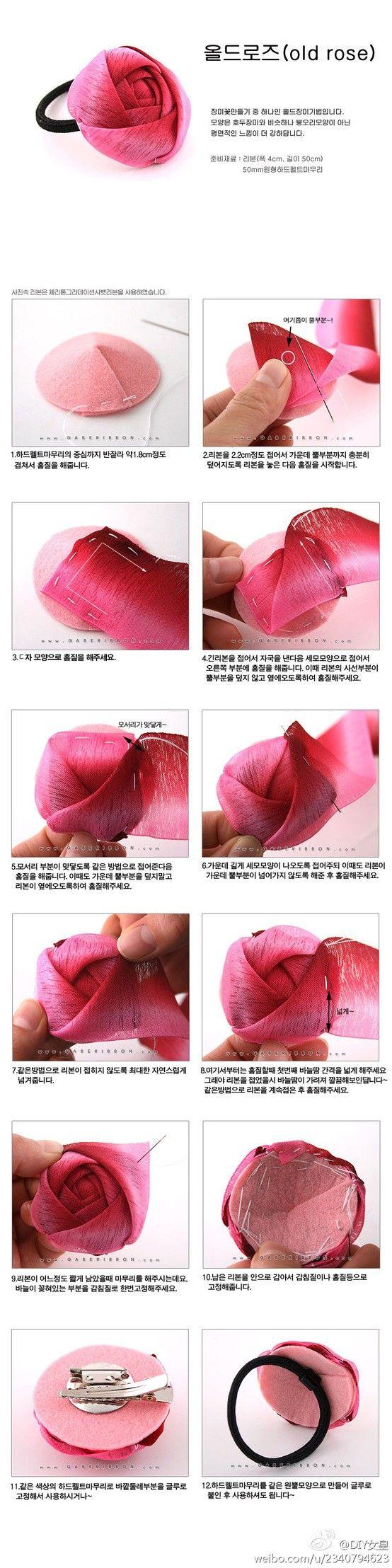 millinery rose tutorial